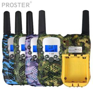 Proster For T-388 2PCS Children Walkie Talkie 8-channels 2-way Radio 3km range LCD display