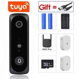 Tuya APP 2MP Smart WiFi Video Doorbell Camera Visual Intercom with Chime Night vision IP Door Bell Wireless Home Security Camera