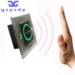 Square Stainless Steel Metal Touchless Door Release Switch IR Contactless Infrared No Touch Exit Button