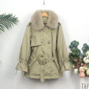 SEDUTMO Winter Duck Down Jackets Women Long Fur Hooded Oversize Thick Warm Coat Autumn Casual Tunic Puffer Jacket ED1127