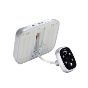 """3.5"""" LCD Color Screen Electronic Door Bell Viewer IR Night Door Peephole Camera Photo/Video Recording Digital Door Camera"""