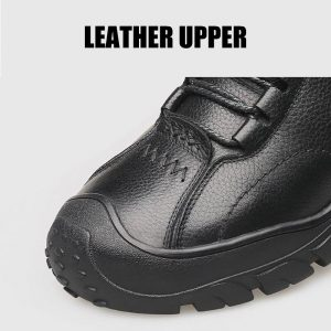 Genuine Leather Shoes Men Winter Plush With fur Warm Men's Casual Cotton Shoes Anti-collision Toe Cap High Quality Sneakers