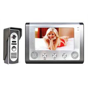 7'' TFT LCD Wired Video Door Phone Visual Video Doorbell Intercom Speakerphone Intercom System With Waterproof Outdoor IR Camera