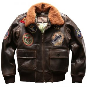 Seveyfan US Flight Genuine Leather Jacket Men Embroidery Patches Slim Motor Biker Real Cowhide Leather Jacket for Male R2982