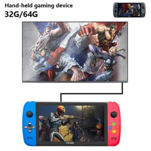 """7"""" 1024*600 screen double rocker handheld 2000+ games PS1 Quad-Core console TV stand output retro portable video game console"""