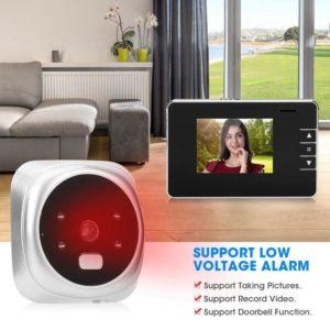 2.8 Inch Digital Electronic Doorbell 125 Degree Video Doorbell Electronic Peephole Door Camera Home Security Viewer