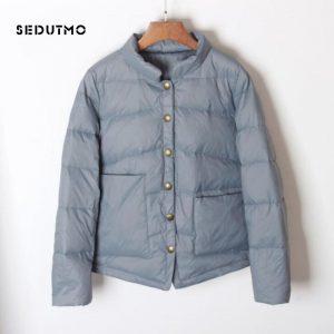SEDUTMO Winter Ultra Light Duck Down Coat Women Short Oversize Jackets Slim Autumn Puffer Jacket Pocket Parkas ED862