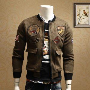 Autumn Winter Jacket Men Army Green Military Motorcycle Ma-1 Aviator Pilot Air Men Bomber Jacket Coats