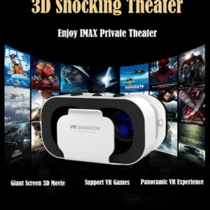 3D VR Headset Smart Virtual Reality Glasses Helmet for Smartphones Phone Lenses 5-7 Inches Binoculars