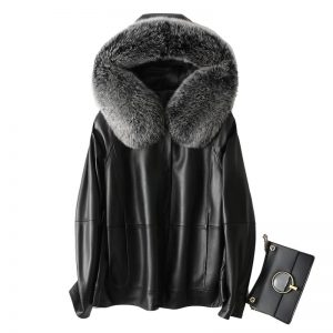 Fur Real Fox Hooded 100% Natural Genuine Leather Duck Down Jacket Women Winter Clothes 2020 Female Sheepskin Coat LW3977