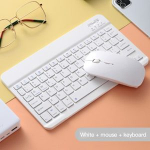 Colorful Wireless Keyboard And Mouse Mini Rechargeable Bluetooth Keyboard For Apple Samsung Huawei Phone For Android IOS Windows