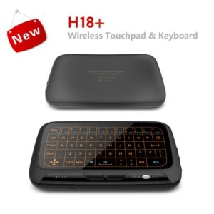 H18+ H18 Plus 2.4GHz Mini Wireless Keyboard With Full Touchpad Backlight Function Air Mouse Keyboards With Backlit For Android