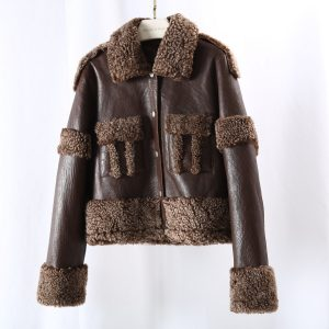 OFTBUY 2020 New Double Faced Fur Real Fur Coat Winter Jacket Women Genuine Leather Natural Merino Sheep Fur Outerwear Streetwear