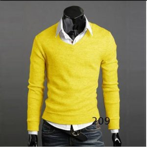 Men's autumn/winter men's thickened rabbit wool v-neck sweater knits men's autumn/winter rabbit wool knits pure color