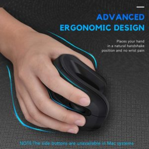 DAREU Magic Bluetooth + USB Dual Mode Vertical Wireless Mouse Ergonomic skin Gaming Mice with 3D scroll wheel For 2 Devices