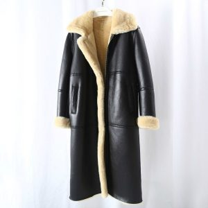 OFTBUY 2020 New Brand Real Fur Coat Winter Jacket Women Natural Genuine Leather Merino Sheep Fur Thick Warm Outerwear Streetwear