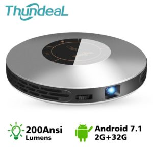 ThundeaL DLP Projector T18 Max WiFi Android 7.0 Pico Pocket HDMI for 4K 2K 2G 32G Mini LED Proyector 3D T18MAX Portable Beamer