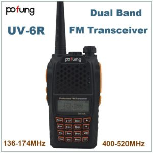 Pofung Baofeng 2015 VHF UHF 136-174MHz & 400-520MHz Two Way Radio UV-6R Walkie Talkie Dual Band FM Transceiver w/Earpiece