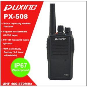 IP67 Waterproof Walkie Talkie Dust proof Radio Puxing PX-508 UHF 400-470MHz Portable Two-way Radio FM Transceiver