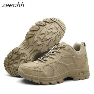 New Men Desert Military Tactical Boots Male Outdoor Waterproof Hiking Shoes Sneakers For Men Non-slip Wear Sports Climbing Shoes