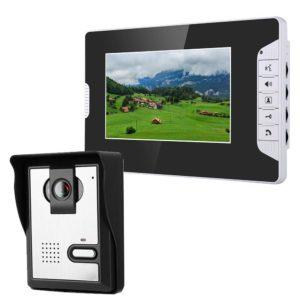 MOUNTAINONE 7 Inch Video Door Phone Doorbell Intercom Kit 1-camera 1-monitor Night Vision with 700TVL Camera