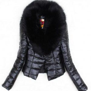 Women 2019 Big Fur Collar Women PU Leather Jacket Winter Plus Size 3XL Autumn Cotton Coat Slim Down Jacket