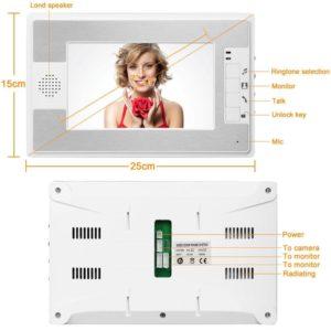 "NEW 7"" Home Video Intercom Door phone System With 2 White Monitor + 1 Camera HD 600TVL Hands Free Monitor Intercom Doorbell"