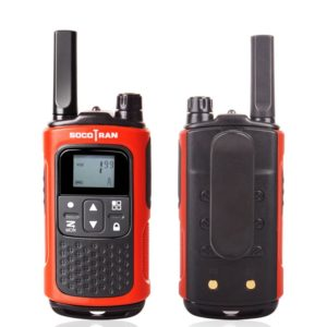 1 Pair License-free Walkie Talkies FRS/GMRS Long Range ham Radio Rechargeable Battery Socotran T80 0.5W22CH VOX LCD Flashlight