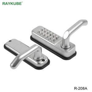 RAYKUBE Waterproof Password Door Locks Mechanical Digital Keypad Password Keyless Door Lock Zinc Alloy R-280A