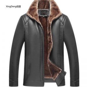 XingDeng 2018 new PU Leather Brand Loose Casual Jackets Men Waterproof Zipper top overcoat Business Winter Male clothes plus 4XL