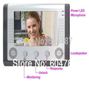 7 inch TFT Color Video Door Phone Intercom Doorbell System Kit IR Camera Doorphone Monitor Speakerphone intercom Night Vision