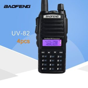(4 PCS)BaoFeng UV-82 Dual-Band 136-174/400-520 MHz FM Ham Two Way Radio