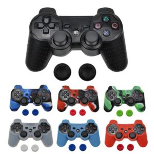 Silicone Cover Case For PS3 Controller Skin Decal Case For Playstation 3 Gamepad Controle Game Accessories with 2 Silicone Caps