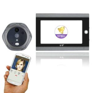 Mountainone 720P WiFi Wireless Digital Peephole Door Viewer 7inch Front Video Door Peephole Camera Wifi video doorphone system