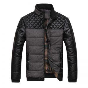new winter spring brand men jackets and coats PU Patchwork designer jackets coat fashion cotton men