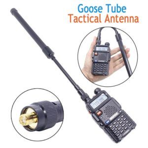 ABBREE  Goose Tube SMA-Female Foldable Tactica Antenna For Handheld Radio Baofeng UV-5R UV-82 BF-888S Walkie Wlkie Two Way Radio