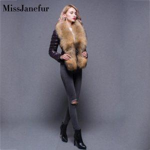 Down Jacket Women Winter Portability Warm 90% White Duck Down Fur Hooded Natural Fur Collar Man Down Coat Waterproof Women
