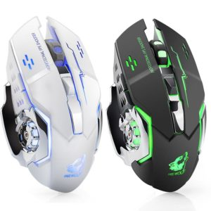 Hot Rechargeable X8 Wireless Silent LED Backlit USB Optical Ergonomic Gaming Mouse PC Computer Mouse For imac pro macbook/laptop
