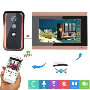 7 inch Wired Wifi Video Door Phone Doorbell Intercom Entry System with 1000TVL Wired IR-CUT Camera Night Vision APP intercom