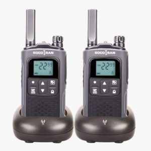 Rechargeable Walkie Talkies Socotran T80 0.5W 22CH Long Distance Two Way Radio VOX with privacy code & rechargeable battery Pair