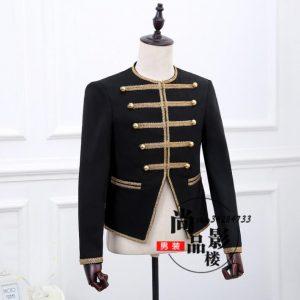 Black stage novelty blazer men formal dress latest coat pant designs suit men dance trouser marriage wedding suits for men's
