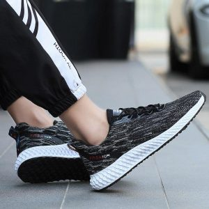 Rommedal ultralight running shoes men breathable anti-slip man casual shoes lace up solid color male sneakers jogging footwear