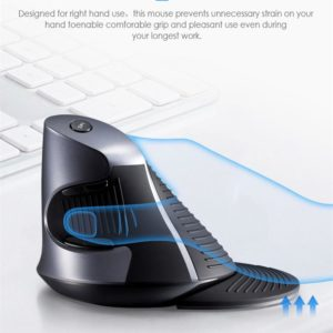 Delux M618 GX Ergonomic Vertical Wireless Mouse 6 Buttons 1600DPI Optical Mice With  For PC Laptop