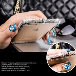 For iPhone X XR XS Max Case Bling Diamond Bumper For iPhone 11 Pro Max 8 7 6Plus Case Glitter Rhinestone Snake Inlay Metal Frame