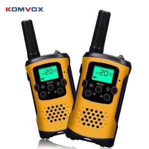 Kids Mini Walkie Talkie Radio Comunicador 6KM Range Woki Toki Two Way Ham Radio Amador with Flashlight for Children Intercom