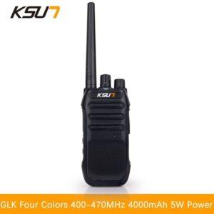 KSUN-GLK Handheld Walkie Talkie 5W High Power UHF Handheld Two Way Ham Radio Communicator HF Transceiver Amateur Handy