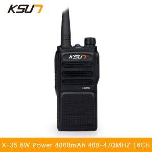 KSUN X-35 Handheld Walkie Talkie 6W High Power UHF Handheld Two Way Ham Radio Communicator HF Transceiver Amateur Handy