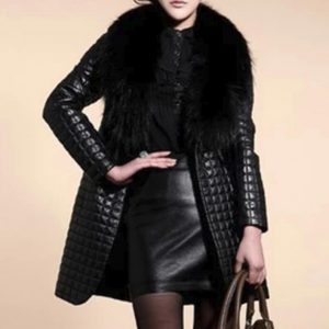 2020 women's faux fur coats long overcoat female imitation fox fur big fur collar pu fur one warm leather slim jackets outerwear
