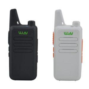 2pcs x WLN KD-C1  Black / White 16 Channel Ultra-thin mini Walkie Talkie UHF 400-470 MHz Ham Radio