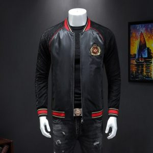 Male qiu dong's personality and fashionable leisure embroidery printing jacket men suit male article number 19324 P170